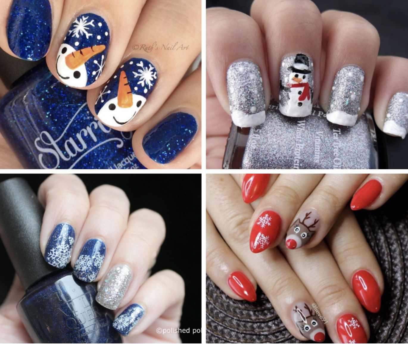 holiday nail collage